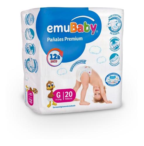 4 Paquetes Pañal Emubaby Premium Talla G Pack
