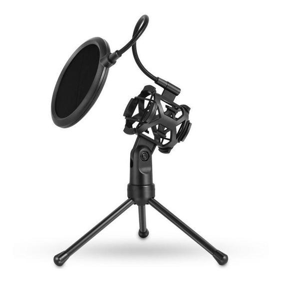 Suporte Tripe Microfone Dj Aranha Ante Pop Filter