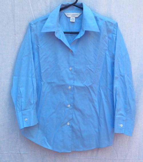 Camisa Celeste De Mujer