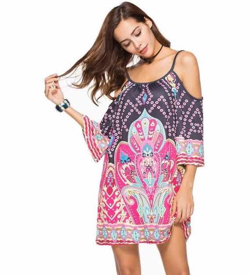 Vestido De Verano Para Playa De Moda Talla M