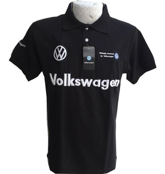 Playera Tipo Polo Volkswagen Negra Envío Gratis