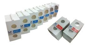 Paquete De 100 Cartoncitos Iguales Para Guardar Monedas