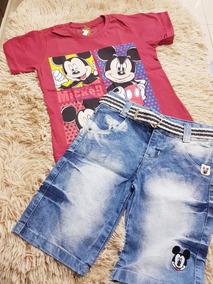 Conjunto Camiseta E Bermuda Jeans