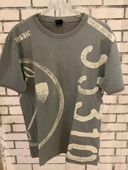 Camiseta Diesel Masculino Cinza Escuro