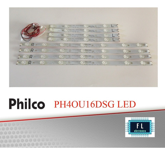 Kit De Réguas De Led Tv Philco Ph40u16dsg Led