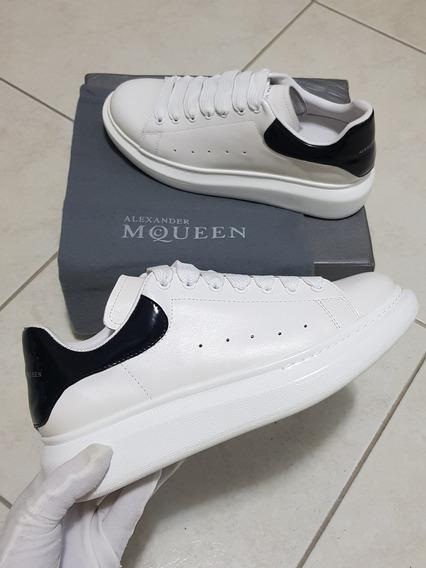 Tenis Alexander Mcqueen Branco Couro Pronta Entrega Mc Queen