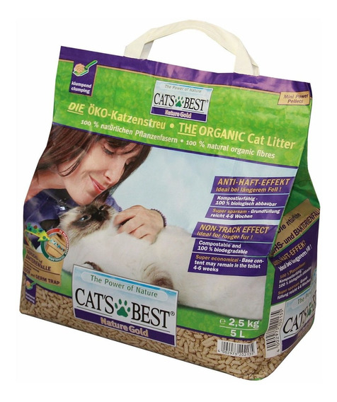 Arena Gato Cats Best Biodegradable 2.1 Kg. Nature Gold