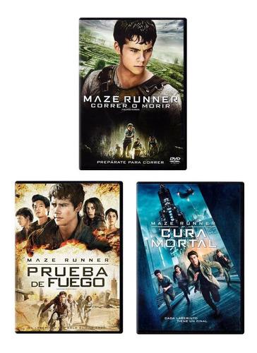 Maze Runner Trilogia 1 2 3 Paquete Peliculas Dvd