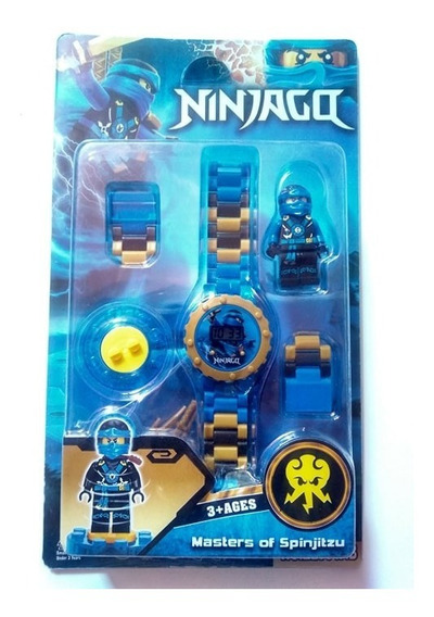 Relógio Digital Infantil Ninja + Boneco Heróis+ Brinde