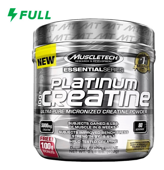 Creatina Muscletech Platinum 100% 400g