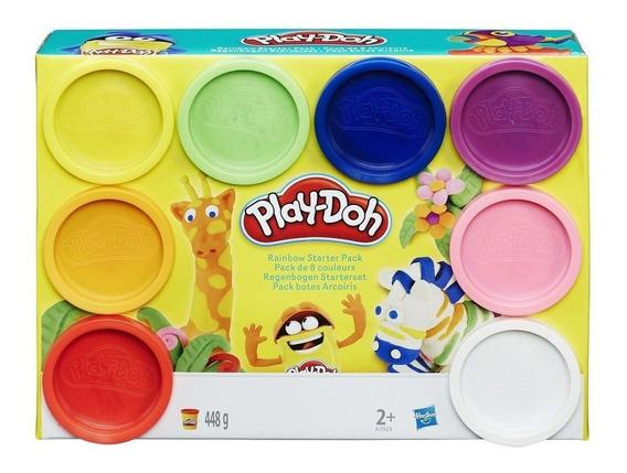 Massinha Play-doh Kit Arco-íris 8 Potes Hasbro A7923