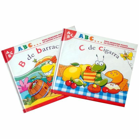 2 Livros Infantis Abc Meus Primeiros Passos Capa Dura