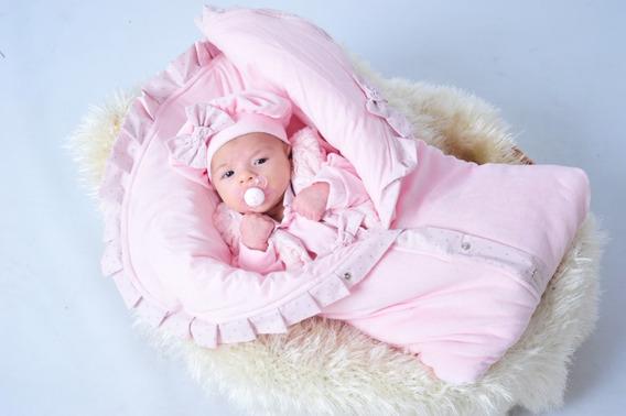 Kit Saída Maternidade Menina Vermelho E Saco De Dormir