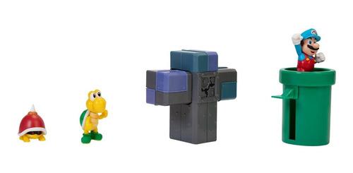 Imagem 1 de 4 de Boneco Super Mario Nintendo Underground Diorama Set Jakks