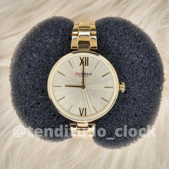 Relógio Feminino Com A Pulseira Fina - Alta Classe - Cn 9017