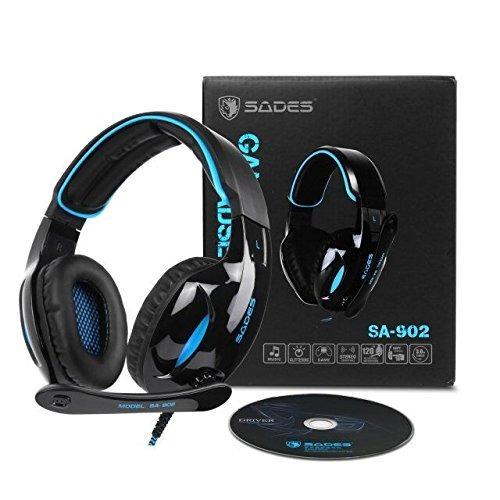 Sades 902 Pc Gaming Headset 7.1 Sonido Envolvente Sobre El O