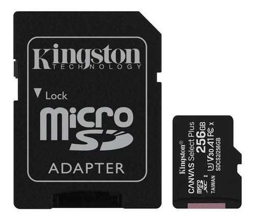 Microsd Kingston 256gb C/adap Clase 10 100mb/s Canvas Plus