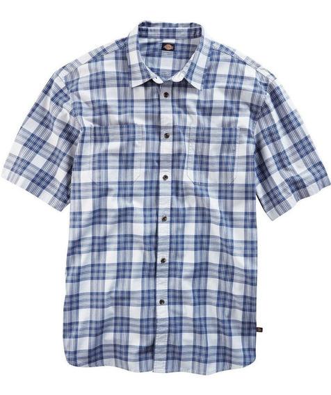 Dickies Ws526 Camisa Manga Corta Cuadros Franela 100 Algodón