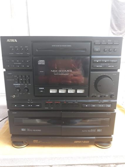 System Aiwa Nsx-800mkii Em Ótimo Estado.