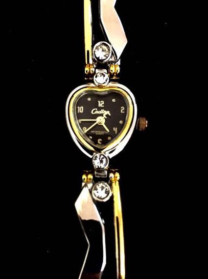 Relógio Feminino Cadina Preto Produto De Mostruário 013