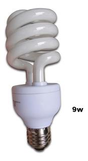 Lampara Bajo Consumo 9w Watts Calida X 2u