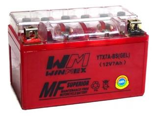 Batería De Gel Ytx7a-bs Para Motonetas Itálikas 125cc 150cc