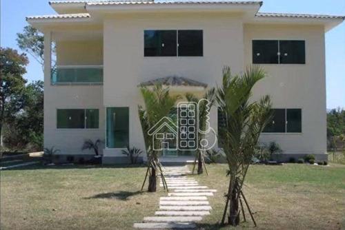 Casa Com 4 Dormitórios À Venda, 240 M² Por R$ 1.300.000,00 - Ubatiba - Maricá/rj - Ca1805