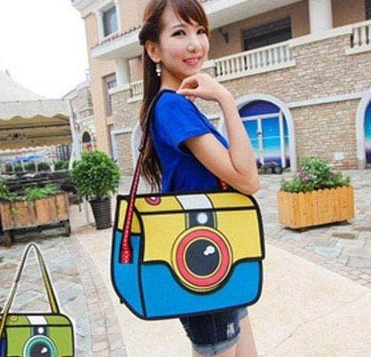 Bolso Morral Diseño 2d 3d Cartoon Shoulder Bag Importada 11