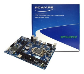 Placa Mae Pcware Ipmh81g1 Lga 1150 16gb Ddr3 I3 I5 I7 4ª Gen