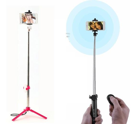 Pau De Selfie Tripé Com Controle Bluetooth