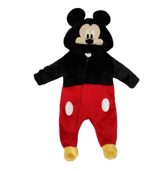 Mameluco Con Gorro Bordado Mickey Carita