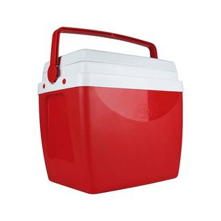 Caixa Térmica Cooler 26 Litros Vermelha Com Alça Mor