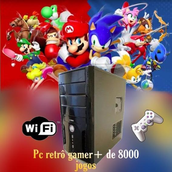 Cpu Gamer Retro + 8000 Jogos + Joystick **wi-fi** Impecável