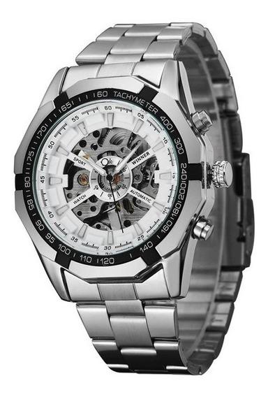 Relógio De Aço Aço Completo Homens Mn4493 Relógio Ego Pulso