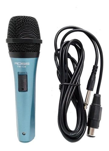 Imagen 1 de 6 de Microfono Ross Fm138 Para Cantante Karaoke