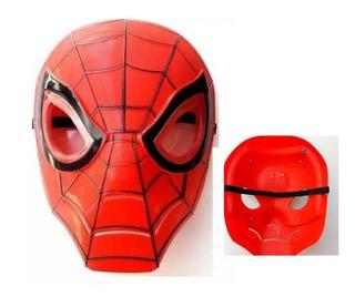 Máscara Led Aranha Spider Festa Fantasia Menino Homem Luz