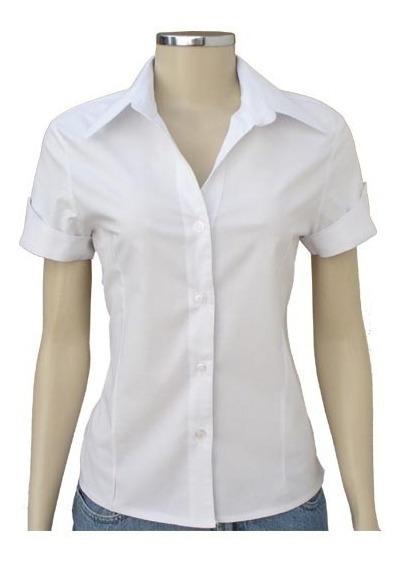 Camisa Feminina Promoção Modelo Slim Manga Curta