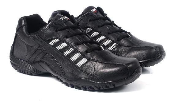 Sapatênis Em Couro Masculino Tchwm Shoes Tamanho Até 48