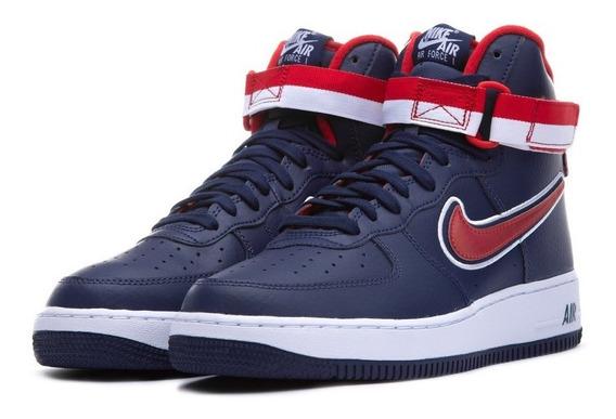 Zapatillas Nike Air Force Azul Rojo Botitas Originales