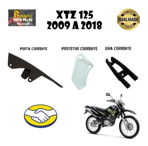 Guia Corrente Xtz 125 2009/2018 + Protetor +porta Corrente