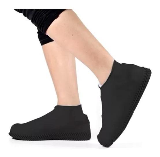 Capa Chuva Sapato Protetor Calçado Silicone Impermeavel Moto