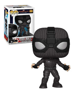 Pop Spiderman Far From Home Hombre Araña Traje Negro N°469