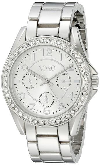 Xoxo Xo172 Reloj Para Mujer Estilo Boyfriend Plateado Decor