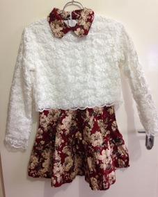 73fffbda5b Lindissimo Vestido Importado Inverno Bordado