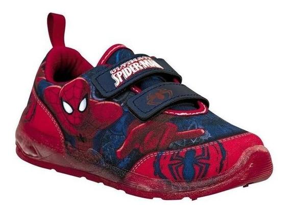 Tenis Spider Man Niño Azul Textil 8407