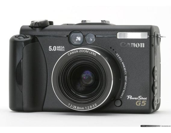 Câmera Canon Powershot G5 + Carregador De Bateria + Bolsinha