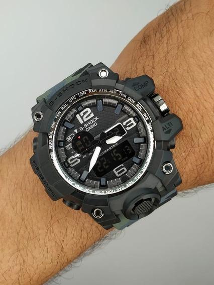 Relógio Masculino Cinza Camuflado Militar Modelo Mudmaster