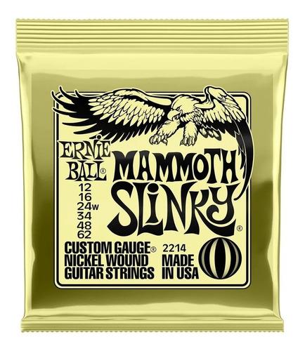 Imagem 1 de 2 de Encordoamento Ernie Ball 2214 Mammoth Slinky 12-62
