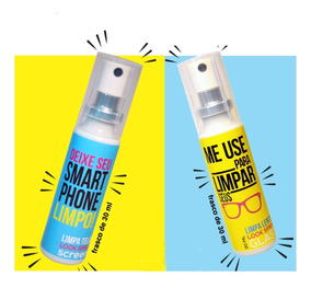 Limpa Tela Smartphone Elimina 99,99% Bactérias - Look Spray