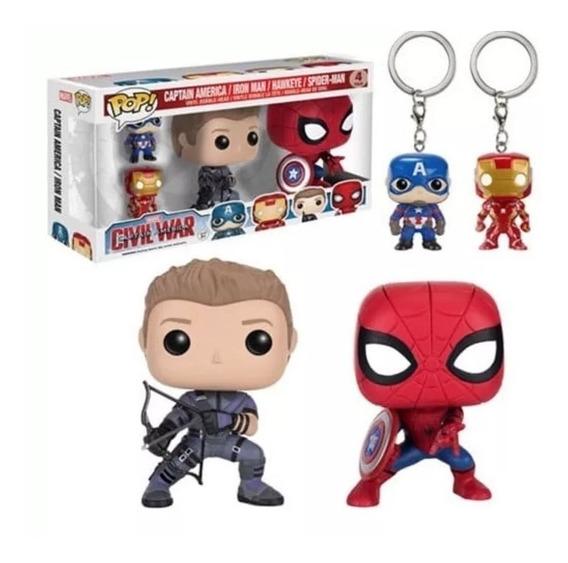 Funko Pop - Capitan America / Iron Man / Hawkeye / Spiderman